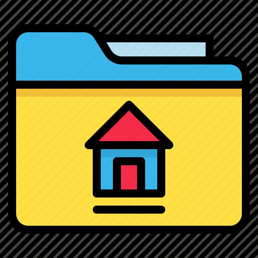 archive, file, folder, home icon