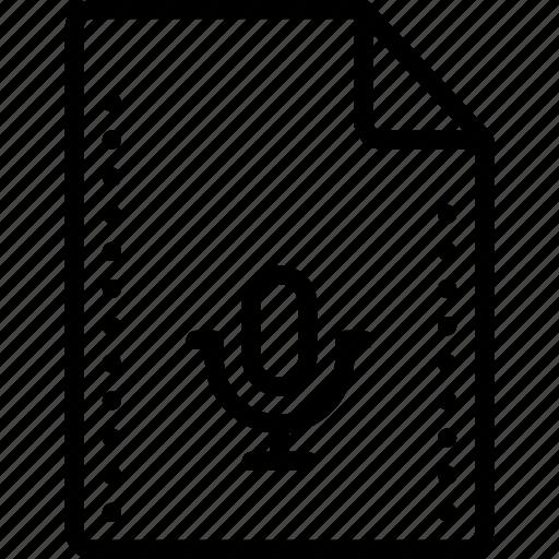 file, files, folders, music, recording, sound, wave icon