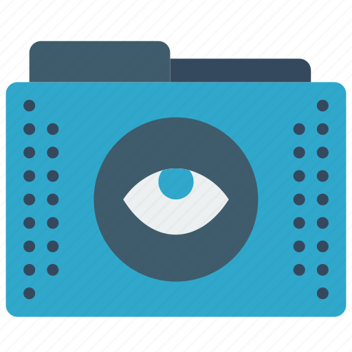 eye, files, folder, folders, show icon