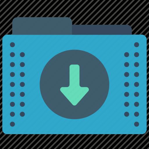 down, download, files, folder, folders icon