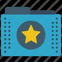 favourite, files, folder, folders, star icon