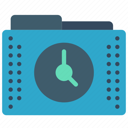 Files, folder, folders, scheduled, time icon - Download on Iconfinder