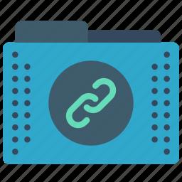 files, folder, folders, hyperlink, links icon