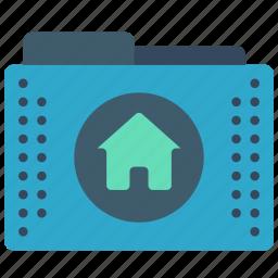 files, folder, folders, home, user icon