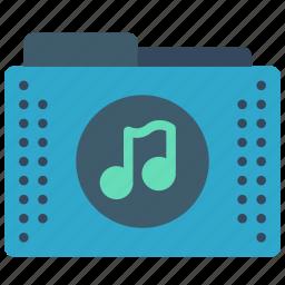 audio, files, folder, folders, music icon