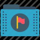 files, flag, flagged, folder, folders icon