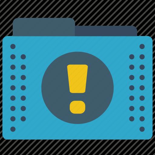 alert, files, folder, folders, important icon