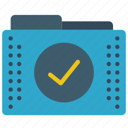 approved, files, folder, folders, tick icon