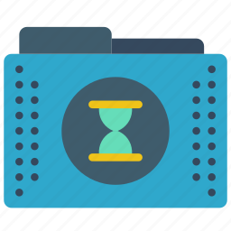 files, folder, folders, scheduled, timed icon