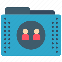 files, folder, folders, people, users icon