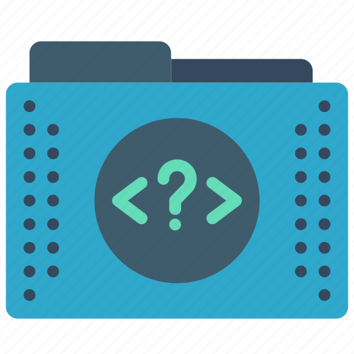 files, folder, folders, php, tag icon