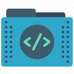 code, files, folder, folders, tags icon