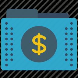 dollar, fees, files, finance, folder, folders, money icon