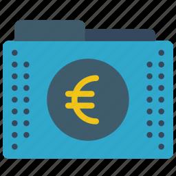 euro, fees, files, finance, folder, folders icon