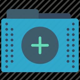 add, files, folder, folders, plus icon