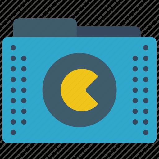 files, folder, folders, games, pacman, roms icon