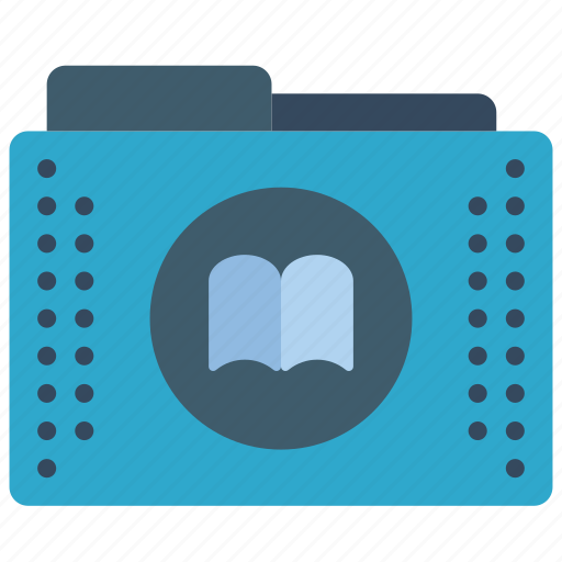 book, bookmarks, files, folder, folders, library icon