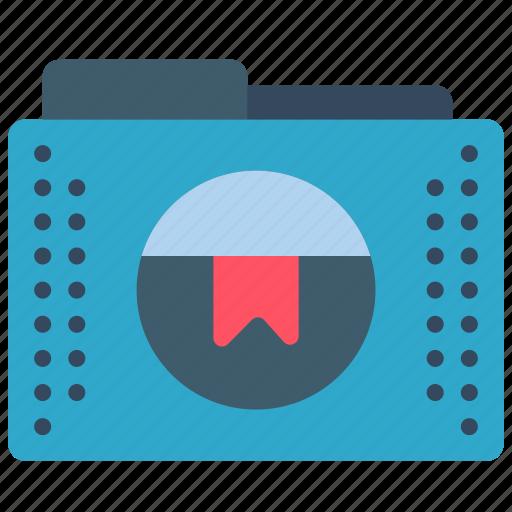 bookmark, files, flagged, folder, folders icon