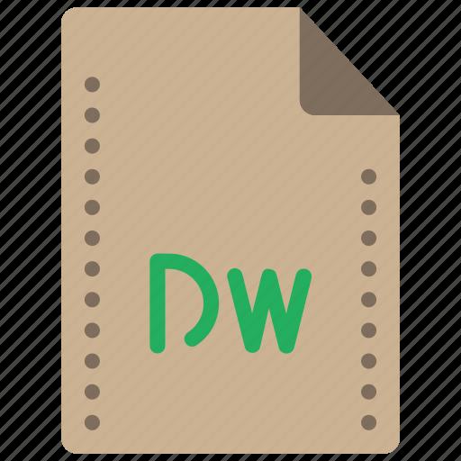 dreamweaver, editor, file, files, folders, html icon