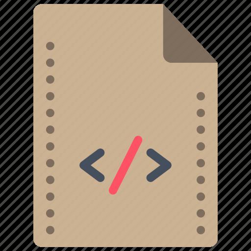 comment, file, files, folders, html, script, tag icon