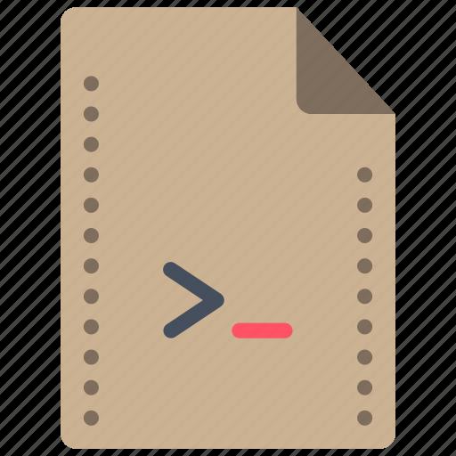 command, file, files, folders, script, shell icon