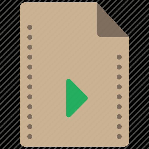 file, files, folders, movie, play icon