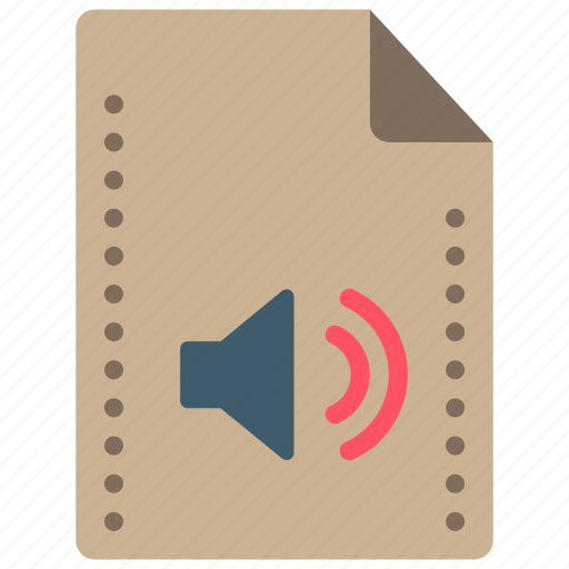audio, file, files, folders, music, sound icon