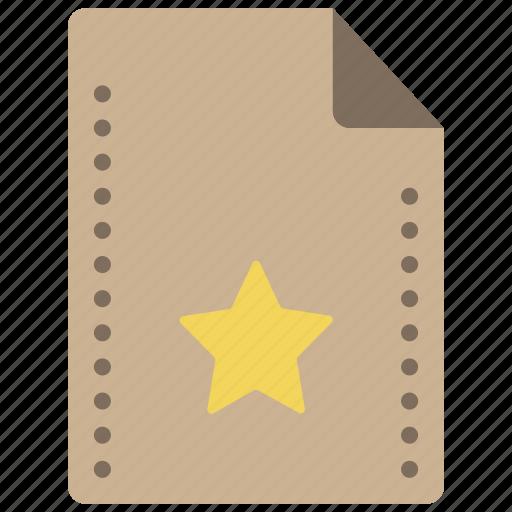 bookmark, favourite, file, files, folders, star icon