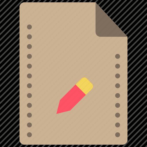 edit, file, files, folders, pen, pencil icon