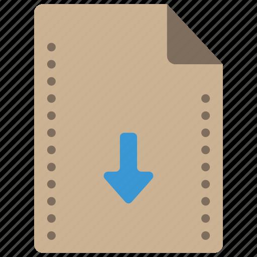 down, download, file, files, folders icon