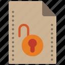 file, files, folders, padlock, unlock