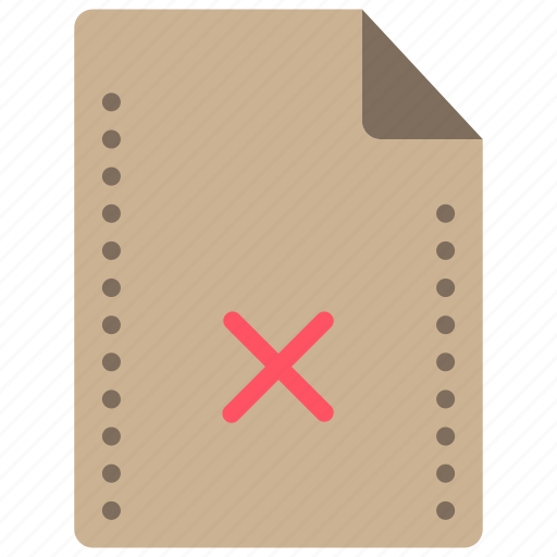 delete, file, files, folders, rejected icon