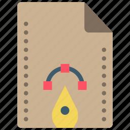 file, files, folders, paths, pen icon