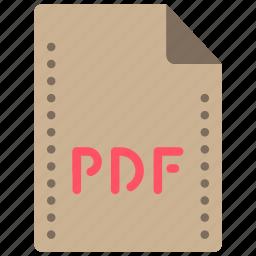 adobe, extension, file, files, folders, pdf icon