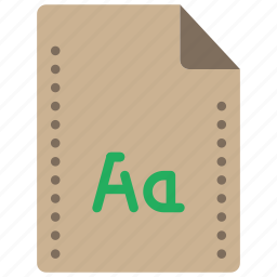 file, files, folders, font, typeface icon