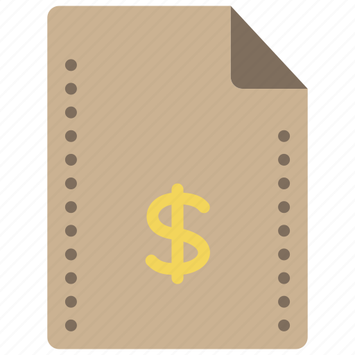 dollar, extension, fees, file, files, finance, folders icon