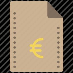euro, extension, fees, file, files, finance, folders icon
