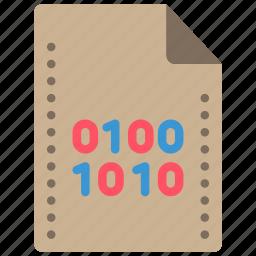 binary, extension, file, files, folders icon