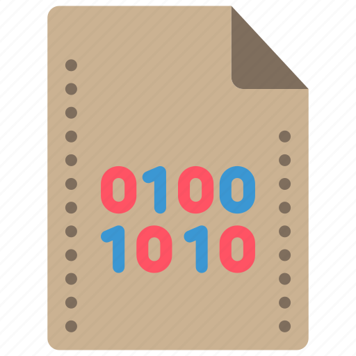 Binary, extension, file, files, folders icon - Download on Iconfinder