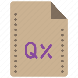 extension, file, files, folders, quark, xpress icon