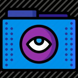 access, eye, files, folder, folders, show icon