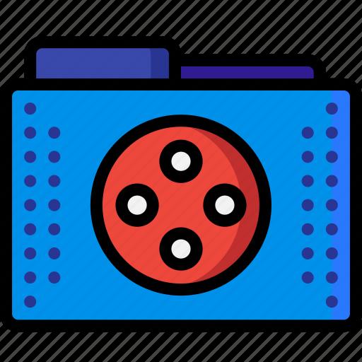 files, films, folder, folders, media, movie icon