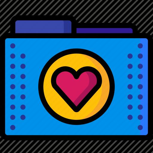 favourite, files, folder, folders, heart, marked icon