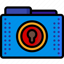 denied, files, folder, folders, lock, locked, padlock icon