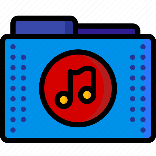 audio, files, folder, folders, mp3, music, wave icon