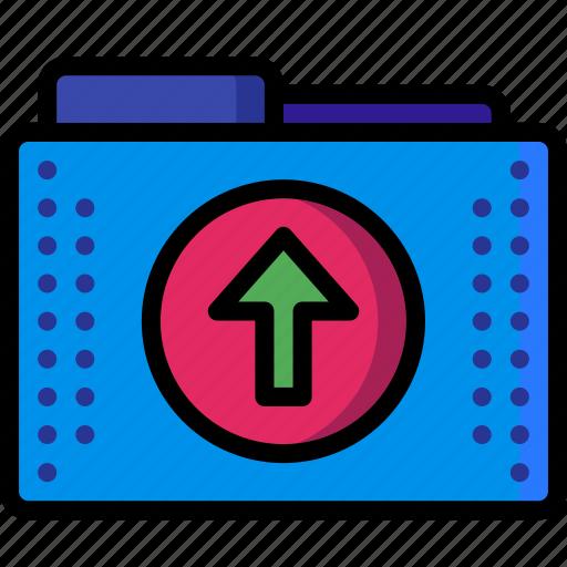 arrow, files, folder, folders, up, upload icon