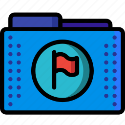 action, actioned, files, flagged, folder, folders, merked icon