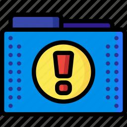 alert, files, folder, folders, important, mark, urgent icon