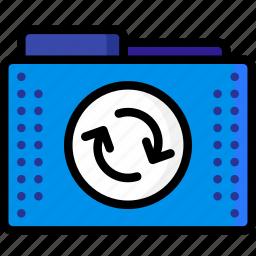files, folder, folders, refresh, reload, sync icon
