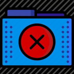 delete, files, folder, folders, omit, remove icon